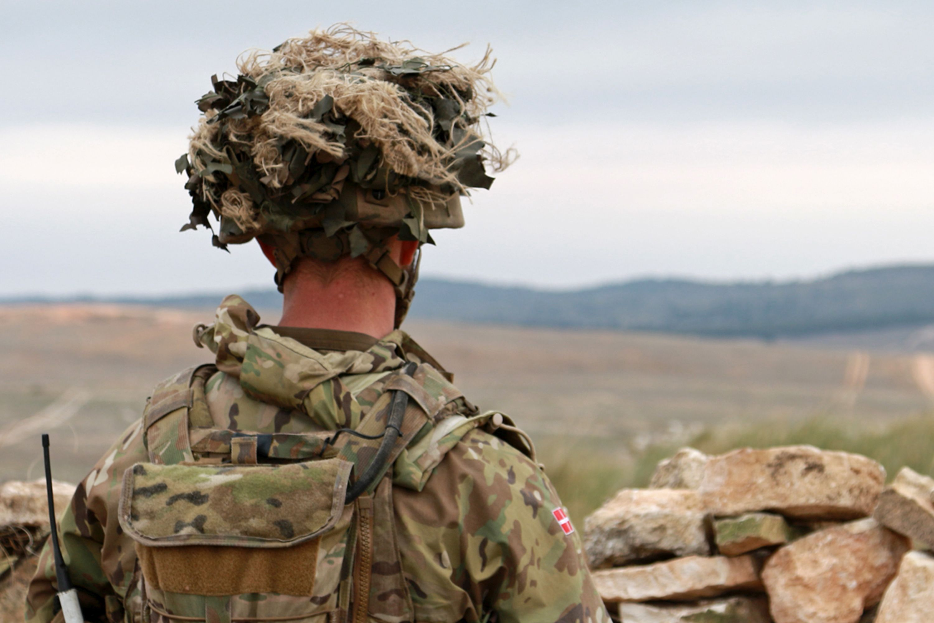Image of a soldier from the back